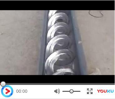 无轴螺旋输送机试机视频