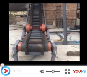 大倾角皮带输送机试机视频